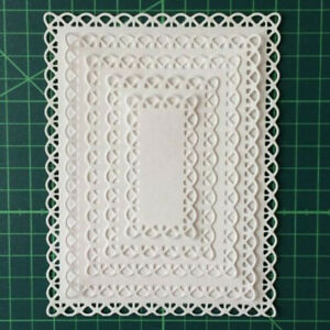 Cutting DIY Paper Card Making Dies Nested Stitched Scallop Irregular Figure