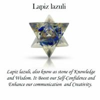 Lapis Lazuli Stone Merkaba Orgone Reiki Gemstone Spiritual Sacred Geometry