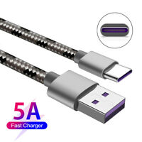 5A Type C USB Sync Charger Fast Charging Cable  Lead for Huawei P30 Mate 20 Pro