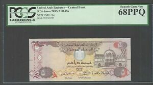 United Arab Emirates 5 Dirhams 2015/AH1436 P26c Uncirculated Graded 68