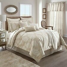 NEW in original packaging! Linen Paisley 10-Piece King Comforter in Natural