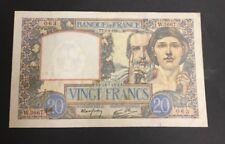 FRANCE  20 FRANCS SCIENCE ET TRAVAIL de 1941  ETAT : TTB  Réf. W 3667