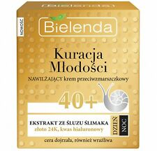 Bielenda Hyaluronic Acid Snail 24k Gold Face Cream for Mature Skin Day Night 40+
