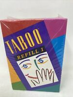 VTG NOS TABOO Game REFILL #1~NEW~Expansion to Original Game~378 Cards+Score Pad