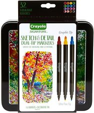 Signature CRAYOLA DUAL TIP MARKERS SKETCH & DETAIL Super/Ultra Fine 32 COLORS