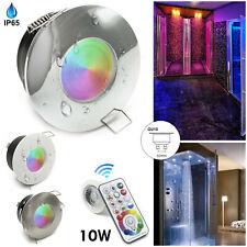 Faretto impermeabile IP65 LED RGB RGBW 10W cromoterapia box doccia bagno GU10