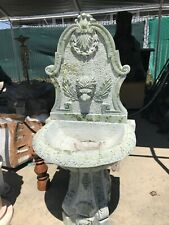 Green Marble Wall Fountain with Lion