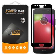 Supershieldz Motorola Moto E4 Full Cover Tempered Glass Screen Protector (Black)