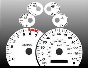 2005-2006 Toyota Tundra Dash Cluster White Face Gauges 05-06