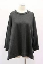 .NWT $2825 Brunello Cucinelli Gray Zippered Sweater 100% Cashmere Size Medium