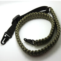 Adjustable Paracord Rifle Strap Gun Sling Gun Belts With Quick Swivels Black/Kha