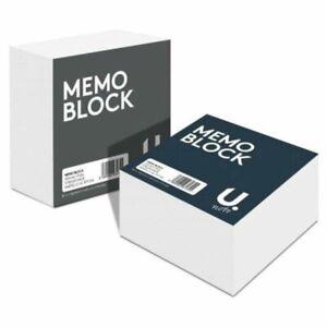 U. 2/4 x 400 Sheets Memo Block Refills Square Plain White Paper Cube 90mm x 90mm