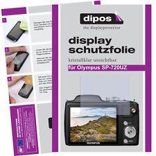 2x Olympus SP-720 UZ Schutzfolie klar Displayschutzfolie Folie unsichtbar