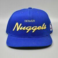Denver Nuggets Reebok NBA Script Draft Cap Men's Snapback Cap Hat