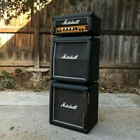Vintage 1980's Black Marshall Mini Stack Lead 12 Guitar Amp Amplifier