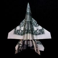 Origami Dollar F/A-18 HORNET Fighter Plane Model Money Handmade US Real $1 Bill
