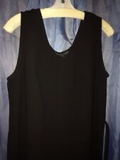 Mlle Gabrielle Ladies Black Sleeveless Dress SZ 14 Pullover Belted