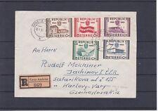 Ö 1955 Reco Satzbrief Wiederherstellung Unabhängigkeit Graz - Tschechoslowakei