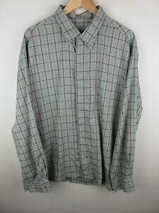 Timberland Mens Shirt Size XL Long Sleeve Button Up Regular Fit Green Plaid
