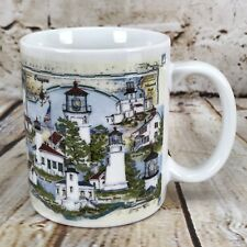 Donna Elias Coffee Mug Tea Cup Great American Lighthouse OR Lights of Oregon