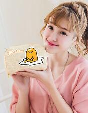 Sanrio Gudetama Egg Canvas Cosmetic Makeup Beauty Bag Pencil Case GU1508B30250B