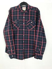 Levi's Blue & Red Plaid Check Long Sleeved Shirt UK Size M Red Label
