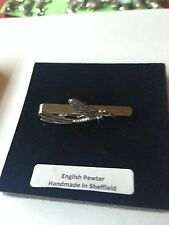 C20 Mayfly English Pewter emblem on a Tie Clip (slide)