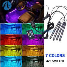 RGB 7 Color LED Strip Lights Music Wireless Remote Control Car Interior Lighting