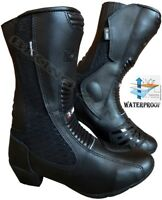 LADIES BLACK HAWK HIGH TECH MOTORBIKE / MOTORCYCLE RACING LEATHER SHOES / BOOTS