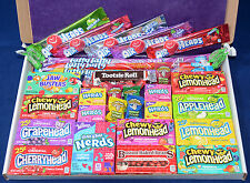 American Sweets Gift Box - Warheads - USA Candy Hamper - Wonka Nerds - Airheads