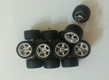 Hot Wheels 5 Spoke Tires Real Riders 4 sets For Custom Size S (10mm)
