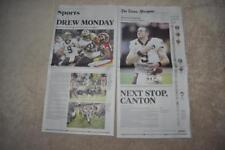 DREW BREES NFL Passing Record New Orleans Times-Picayune Newspaper 10/9/2018