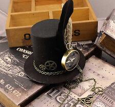 Steampunk Gears Clip Mini Top Hat Victorian Womens Girl Costume Fancy Dress