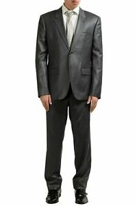 Versace Men's 100% Wool Gray Two Button Suit US 42 IT 52