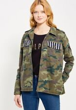 GAP CAMO CAMOUFLAGE UTILITY BUTTON JACKET LADIES L LARGE NEW NWT $98 RETAIL