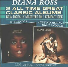 DIANA ROSS 2 ALL TIME CLASSICS SURRENDER AIN'T NO MOUNTAIN HIGH ENOUGH CD RARE!