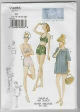 Vogue Sewing Pattern V9255 Vintage 1960 Miss Bra Shorts Bathers Cover-up 14-22