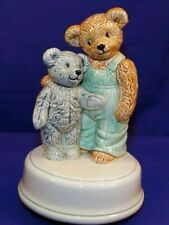 Vintage Otagiri Music Box Bear Best Friends Plays Play Mates