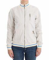 NEW $350 JOHN GALLIANO White Mock Zip Cardigan Jacket Sweatshirt Sweater S/US 6