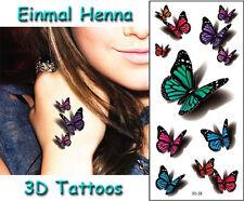 Einmal-Tattoo, 3D Henna Temporary Tattoo,  wasserdicht 190*90mm Neu tat62