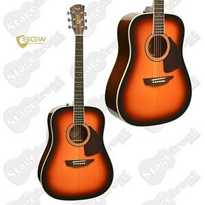 SAMICK GUITAR WORKS 300 SERIES DREADNOUGHT SOLID SITKA SPRUCE TOP -S300DVS *NEW*