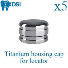 5 x Dental Titanium Housing Caps For Locator Implant Abutment