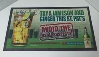 Jameson Whiskey St Patrick's Day Bar Runner beer pub man cave