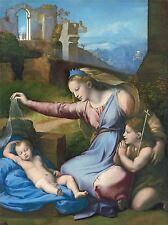 PAINTING CLASSICAL CHRIST MARY JESUS VIRGIN SANZIO ART POSTER PRINT LV2413