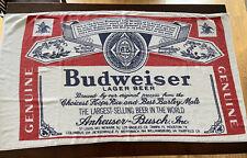Vintage Budweiser Beer Bottle Label Beach Towel 56� X 31�