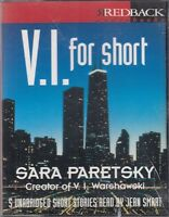 V I For Short Stories Sara Paretsky Warshawski 4 Cassette Audio Book Unabridged