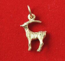 NEW Capricorn 9ct Yellow Gold Zodiac Pendant 375 Horoscope Charm Goat 9KT Solid