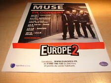 MUSE - IN CONCERT!!!!!!!!!!!!!!!!!1!FRENCH PRESS ADVERT