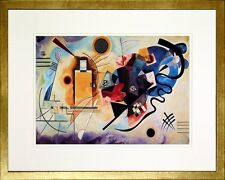 Yellow - Red - Blue. Wassily Kandinsky. Poster Framed (Real Wood Gold Frame #2)