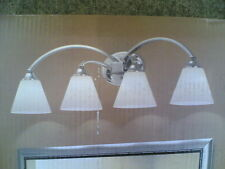 "Nib Classy 4-Lite Bathroom Vanity Light (32"" W x 10"" H) - Chrome Finish"